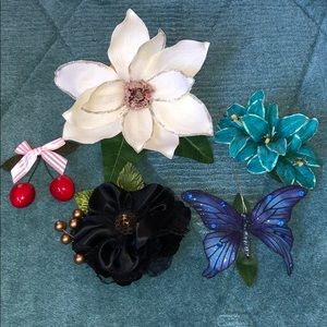 Accessories - Hair flower lot sparkly pinup leopard